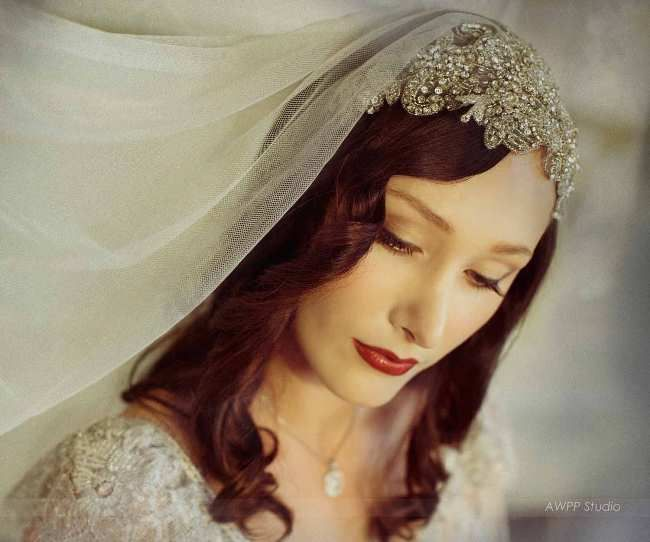20s Inspired Bridal Beauty and Fashion