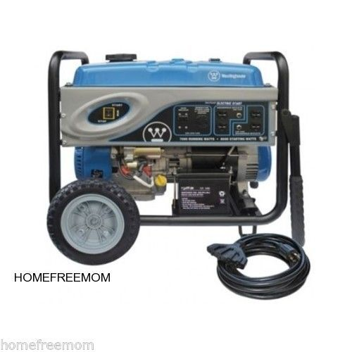 You'll be ready for those downed power lines from a snowstorm.  PORTABLE ELECTRIC GENERATOR ELECTRIC START HOME EMERGENCY GAS POWERED CAMPING  #Westinghouse #gas-powered generator #camping #emergency