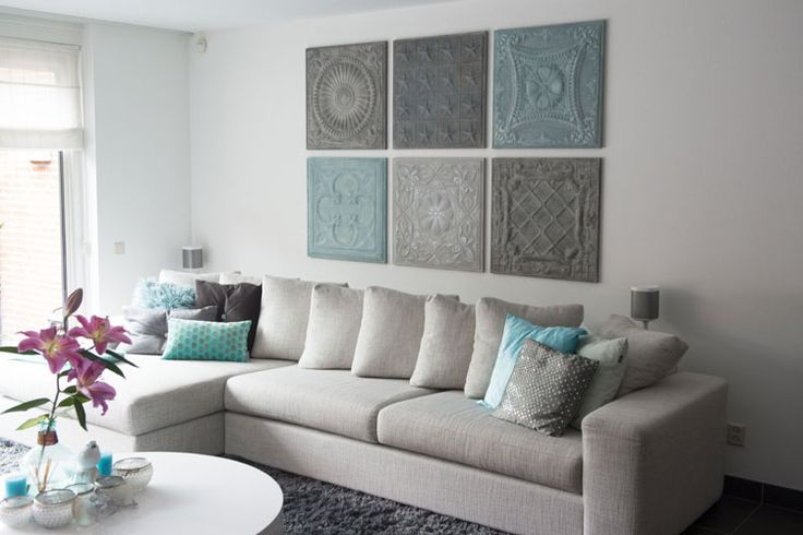 25 beste idee n over woonkamer schilderijen op pinterest Schilderij woonkamer
