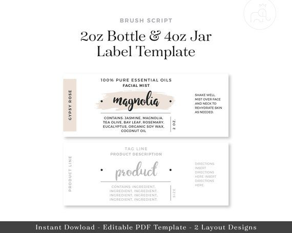 Custom Labels Stickers For Jars Essential Oil Labels Template