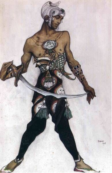 Costume sketch, Leon Bakst