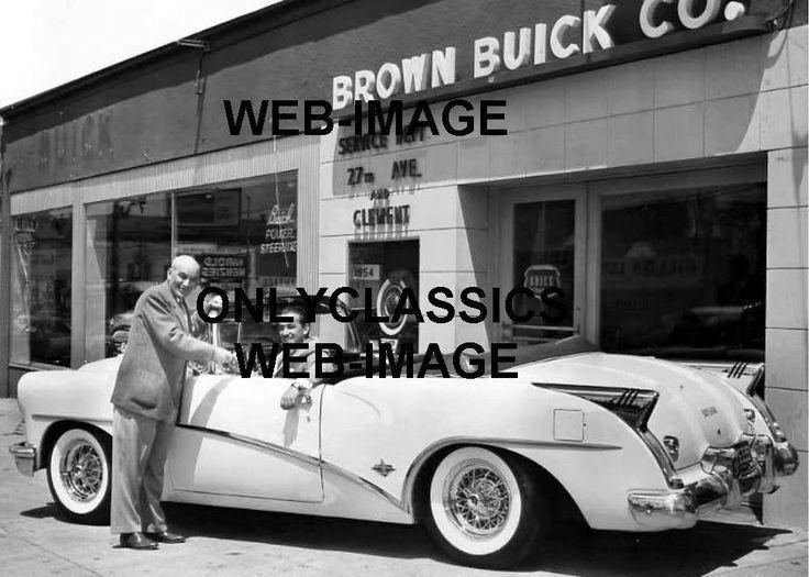 1954 BROWN BUICK NEW CAR AUTO DEALER 5X7 PHOTO SKYLARK