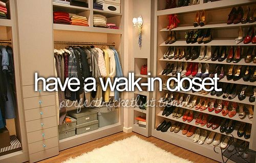 done (kinda). but i'd like to have a walk-in closet just like Carrie Bradshaw from SATC.