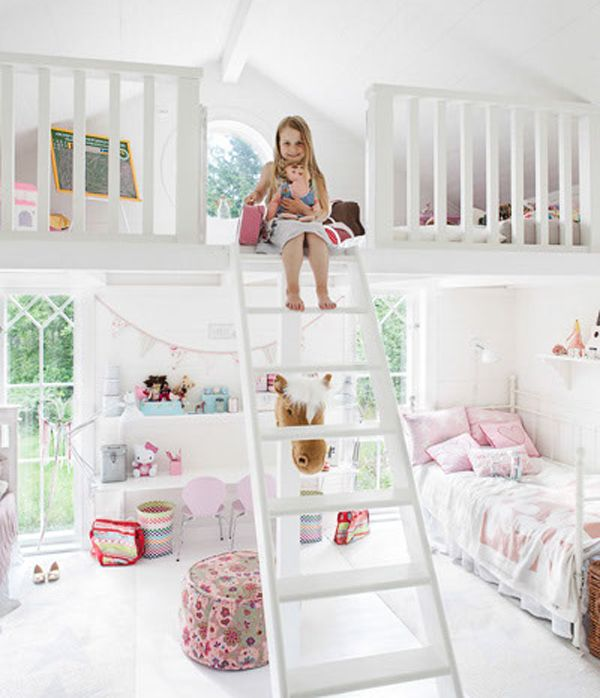 Little Girls Bedroom Ideas | Bedrooms Is Designed For Two Little Girls Has  Two Parts Bed The Top ... | Room Ideas | Kids Room Design, Little Girl  Bedrooms, ...