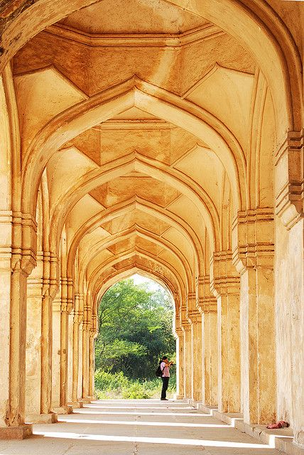 Old Hindu temple arches, India-.-