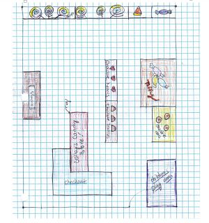Project-based learning: Create a candy store (Fractions, decimals, percents, ratios, graphing, and area. Focuses mostly on 5th Grade Common Core standards)