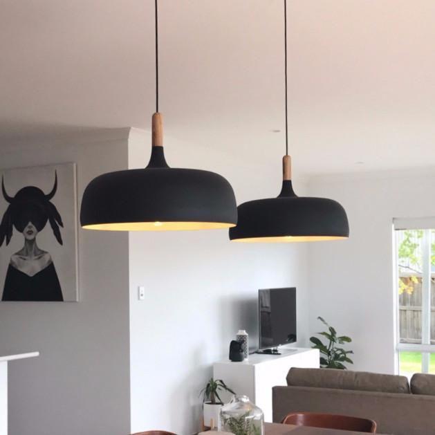 Nordic Styled Pendant Light Metal Timber Living Room Pendant Light Metal Pendant Light Black Pendant Light
