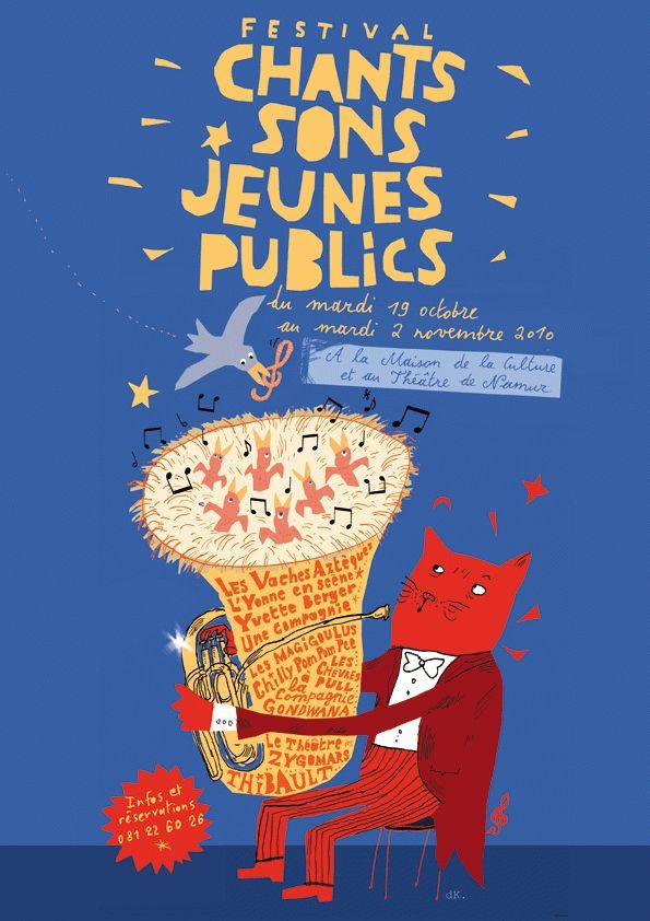 Chants Sons Jeunes Publics 2010 by Philippe de Kemmeter, via Behance