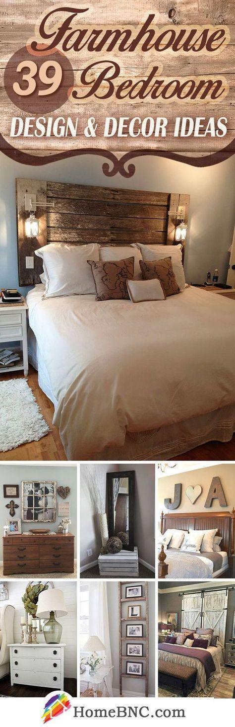 Farmhouse Bedroom Decor Ideas. #homedecor #home #homedecorideas #farmhouse #farm…