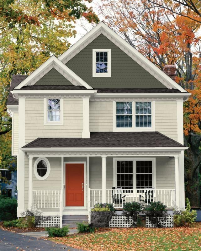 Light beige grey exterior colors pinterest for Best beige exterior paint color