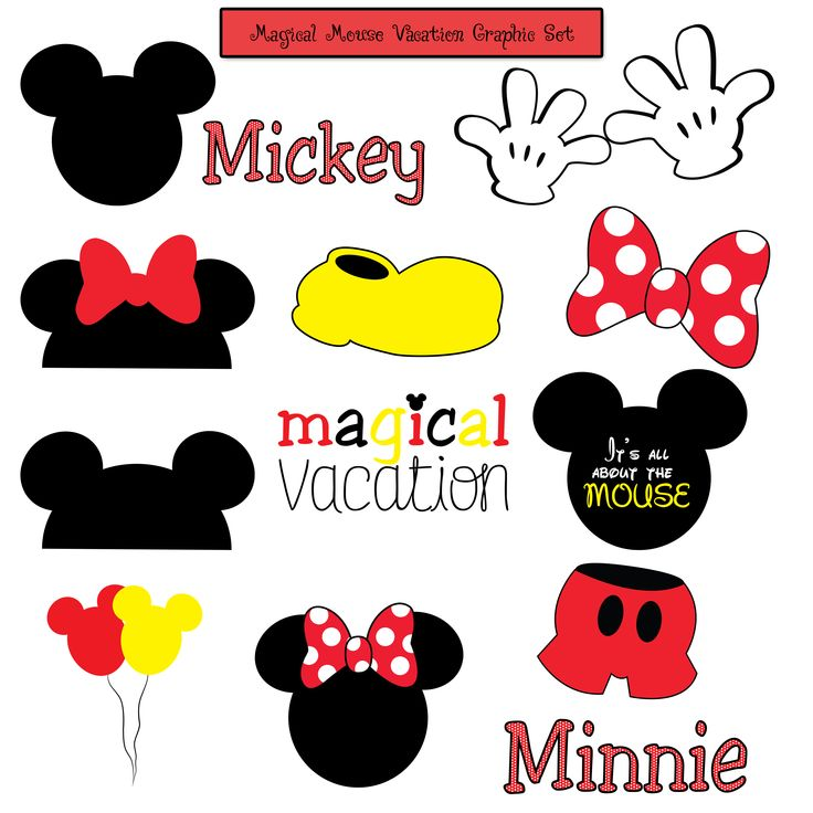 Magical Mouse Disney Vacation Mickey Minnie Graphics or Photo Props