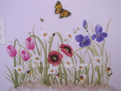 1000 images about murals for shed on pinterest portal for Butterfly garden mural