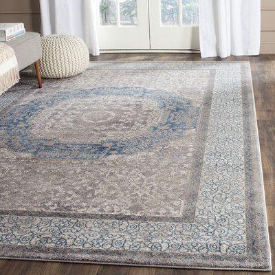 Darby Home Co Sofia Light Gray/Blue Area Rug & Reviews | Wayfair