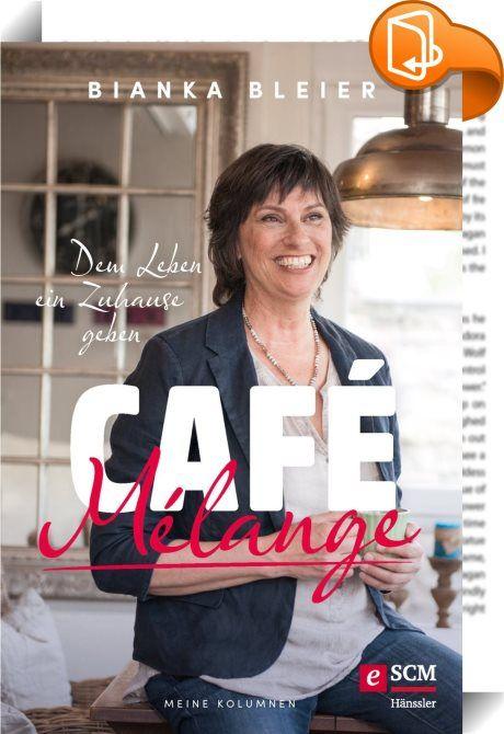 """Café Mélange    :  Erfolgsautorin Bianka Bleier, auch bekannt als """"Fromme Hausfrau"""", gewährt neue Einblicke in ihr Leben. In gewohnter Frische erzählt sie von seinen Höhen und Tiefen. Humorvoll und mit einem Augenzwinkern schildert Bianka Bleier skurrile Unwegbarkeiten des Alltags, nachdenklich und ernst berichtet sie von Trauer, Vergänglichkeit und Abschied. Freimütig spricht sie von Wünschen, Träumen, von Erfolgen und vom Scheitern - und vor allem von ihrer tiefen Freundschaft mit Go..."""