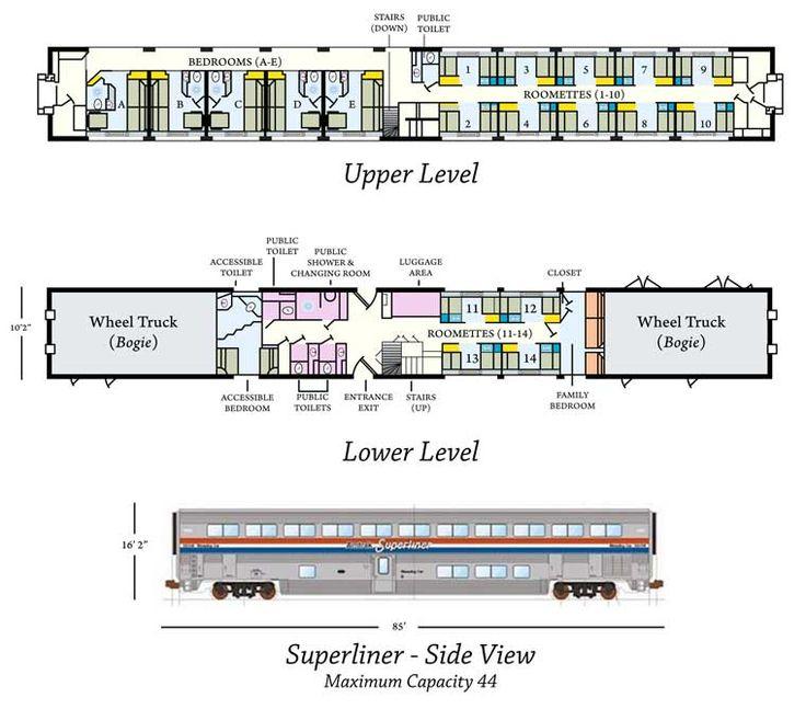 Andy Anderson Amtrak Superliner Sleeper Diagram