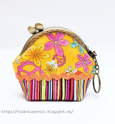 мое рукоделие:): МК кошелек на фермуаре - делаем выкройку и шьем  Purse frame tutorial