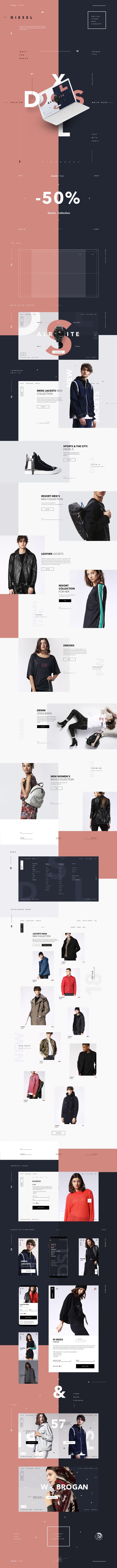 Diesel online store concept