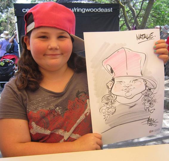 Hire A Caricaturist » Paul Harv Caricaturist Melbourne