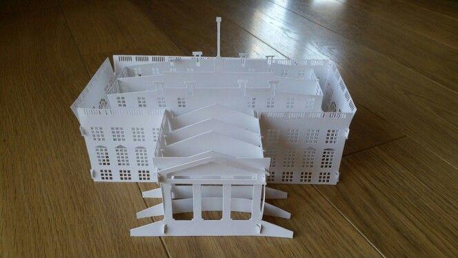 Origami arquitectonico: La Casa Blanca