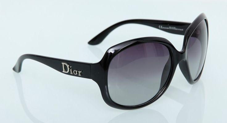 Солнечные очки Dior черные в фирменной коробке и чехле