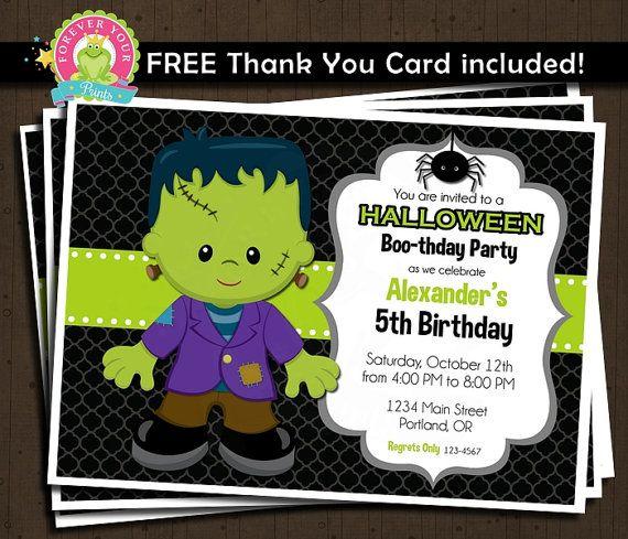 halloween birthday invitation printable por foreveryourprints - Halloween Birthday Invitations Printable
