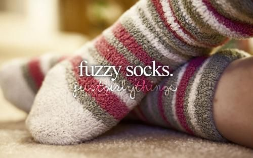 fuzzy socks-just girly things