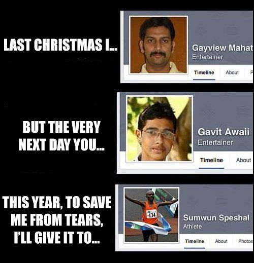Last Christmas mit Facebook-Namen | Webfail - Fail Bilder und Fail Videos