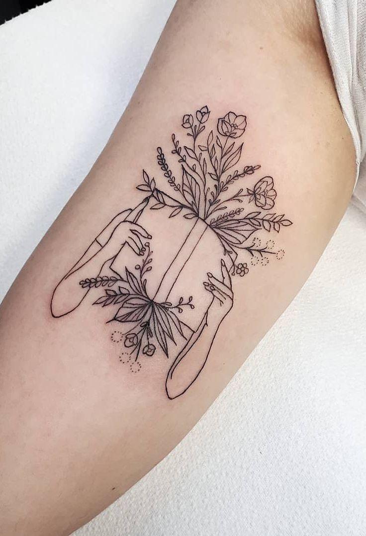 cool book tattoo © tattoo artist Clarence Street …