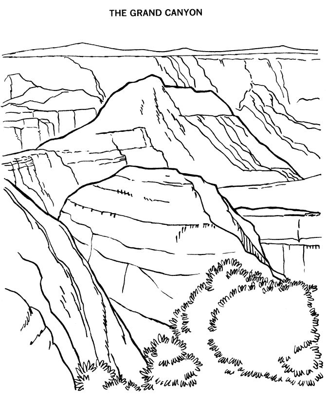 grand canyon national park coloring page
