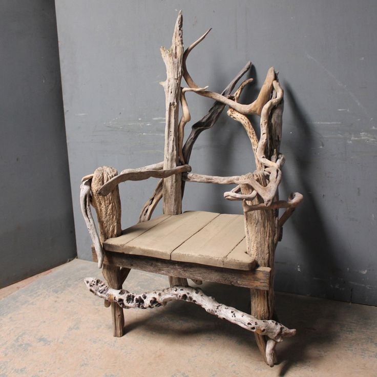 drift wood art work marvellous and large scale thronelike chair made out of