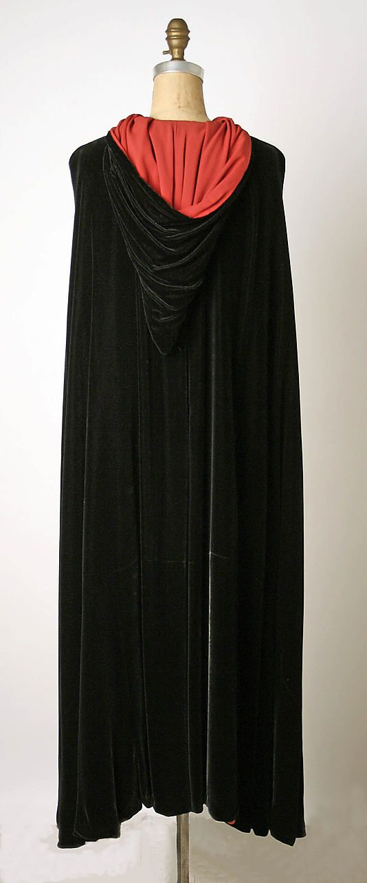 Cape, Evening - Valentina - late 1930's. I have always loved the drama of a cape.