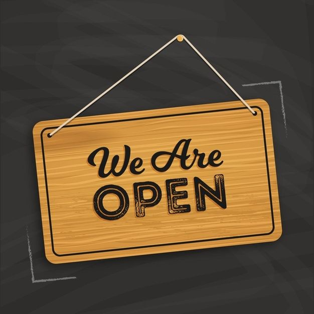 We Are Open Sign Concept We Are Open Sign Open For Business Sign Open Signs
