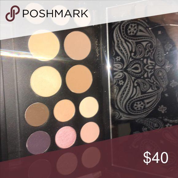 Smashbox pallet 9 eyeshadow shades, a contour set, and eyebrow shades w eyebrow wax, used once. Smashbox Makeup Eyeshadow