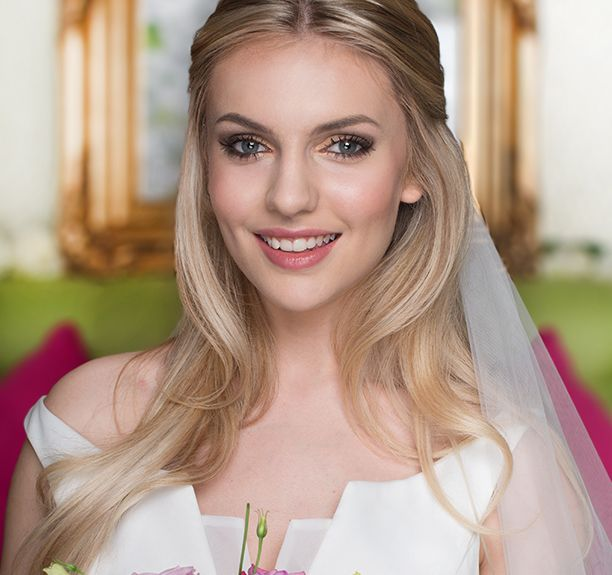bridal beauty | Benefit Cosmetics. Fall in love like the day you first met with softly smoked eyes and a bronzed glow! Beautiful bride makeup xx