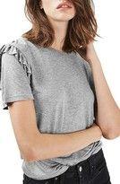 Women's Topshop Frill Sleeve Tee