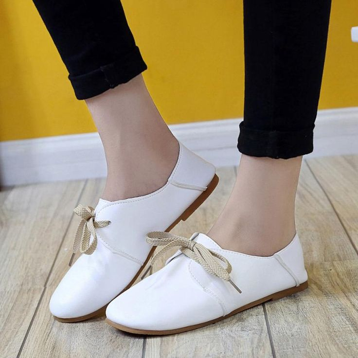 New Women Fashion Comfortable Solid Flats Shoes Slip On Shoes Flat Leisure  Low-heeled Flat Loafers Shoes Woman Zapatos Mujer