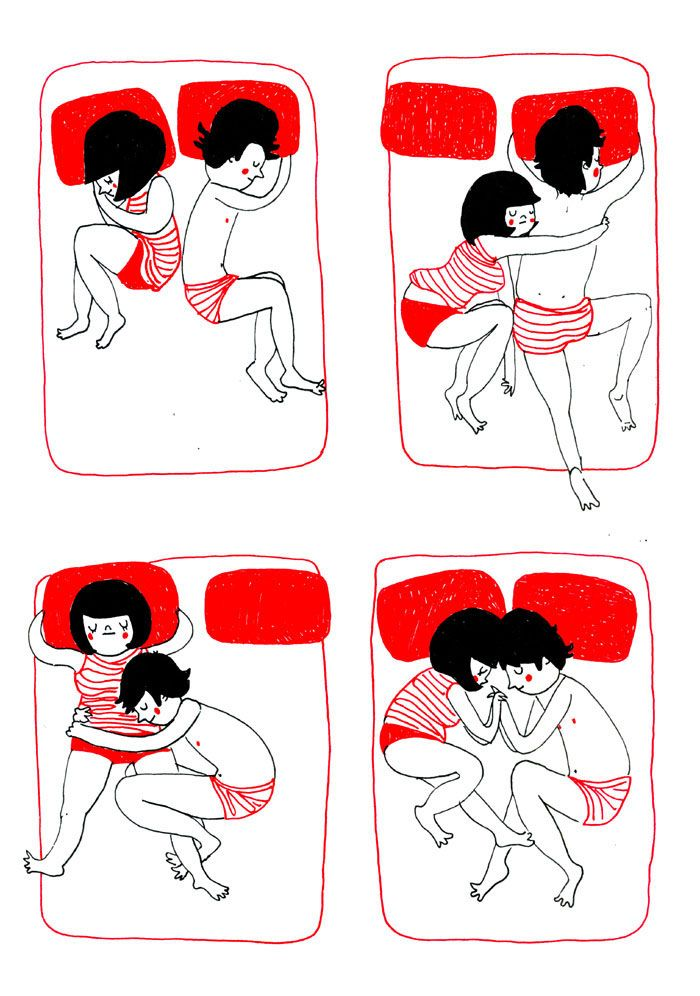 (3) It is hugging each other accidentally while sleeping