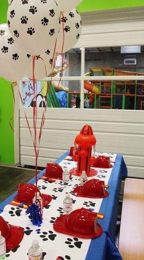 Creativa idea de decoración para cumpleaños de la Patrulla Canina