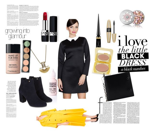 """The Little Black Dress"" by superholowholockian ❤ liked on Polyvore featuring Obsessive Compulsive Cosmetics, Monsoon, Christian Louboutin, Tom Ford, MAKE UP FOR EVER, Guerlain, Christian Dior, Victoria's Secret, Maison Margiela and Anja"