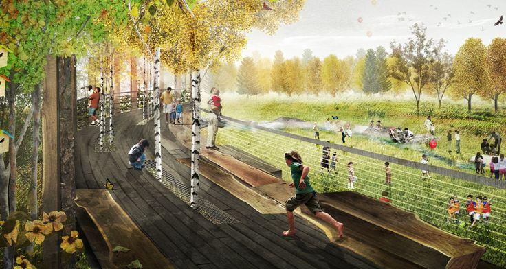 Микянг Ким Дизайн - Чикаго Ботанический GardenMikyoung Ким Design - Ландшафтная архитектура, городское планирование, сайта Art