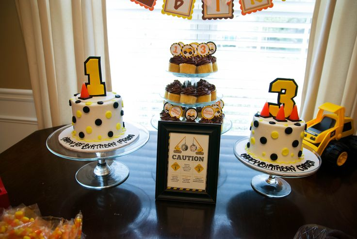 We Heart Parties: A Construction Themed Joint Birthday Party                                                                                                                                                                                 More