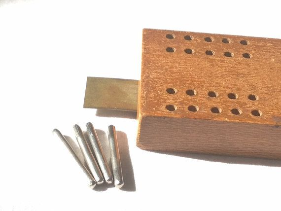 Cribbage Board 1930's Horn McCrillis Maple by Rubyapplevintage, $38.00