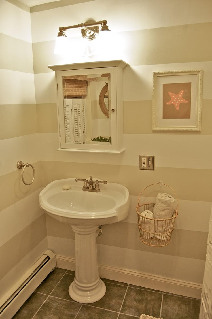 Preppy Striped Bathroom-for half bath