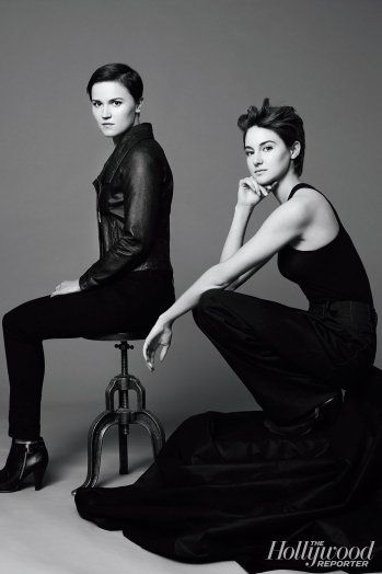 Shailene Woodley and Veronica Roth // The Hollywood Reporter ~Divergent~ ~Insurgent~ ~Allegiant~