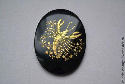 Для украшений ручной работы. Ярмарка Мастеров - ручная работа. Купить Крупный винтажный страз 40х30 мм  цвет Zodiac. Handmade.