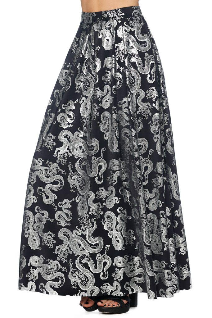 Tatsu Black Box Pleat Maxi Skirt - LIMITED (AU $100AUD) by BlackMilk Clothing