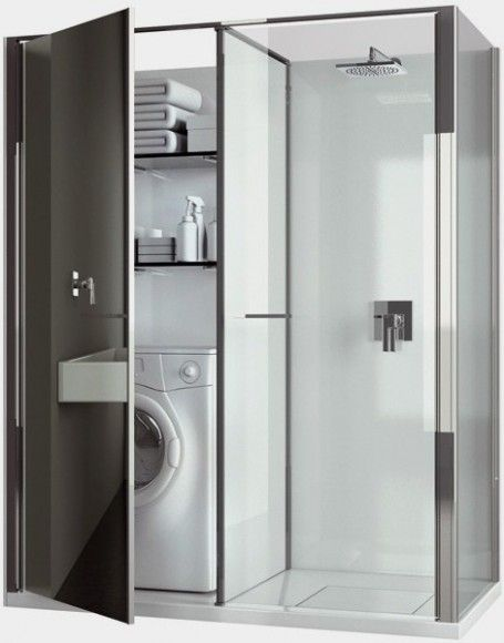 Image On laundry bathroom bos Compact Laundry Shower Cabin Combo by Vismaravetro Design Ideas
