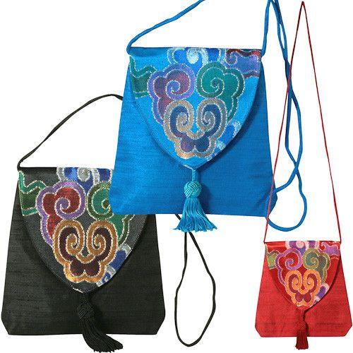 Small Silk Brocade Shoulder Bag Handmade Purse