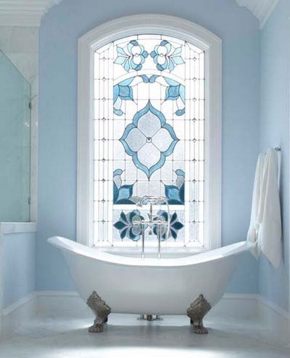 Regain Your Bathroom Privacy & Natural Light w/This Window Treatment