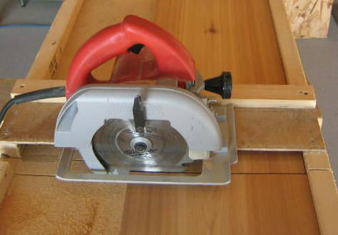 Free Circular Saw Cross Cut Jig Plan Vinyl Siding